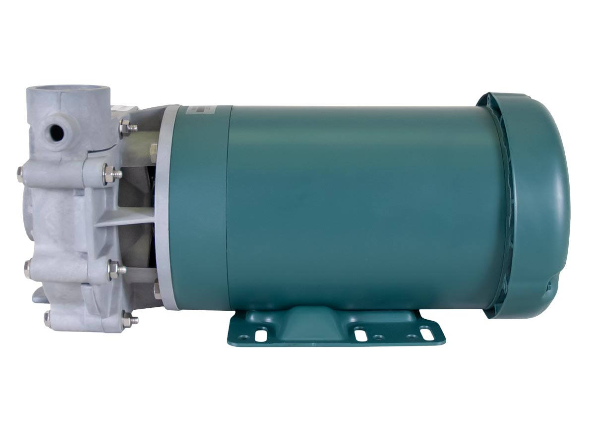 Advance 1000 Pump with green Leeson Motor right side view